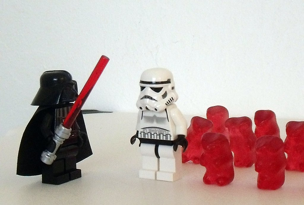 Darth Vader inspects the new squad of crack troops