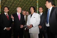 Συνάντηση με τον Λίβυο Ηγέτη, Muammar al-Gaddafi