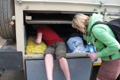 Bagage uit de truck