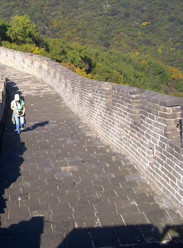 Tanya on the Great Wall of China