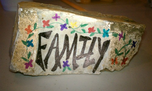 Student work: thankful for family