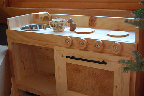 Play kitchen made by dh