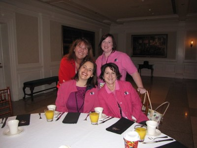 Diane C, Margaret, Kathie F and me at Disney Social Media Moms