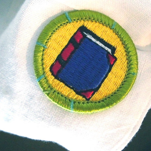 Bookbinding badge