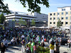Crowded City-Life In The Middle Of Wolfsburg (VFL Wolfsburg=Champions)