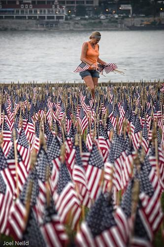 Volunteer Places Flags