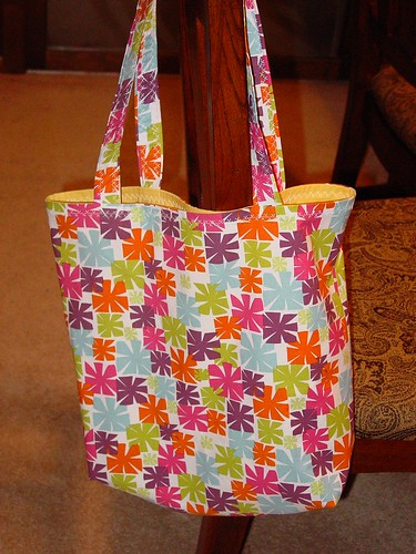 reusable grocery bag made for swap on swap-bot