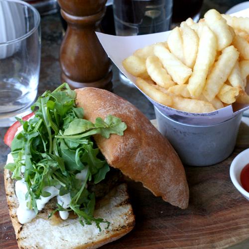 gazebo wine garden - lamb burger