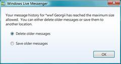 Messenger: Full message store