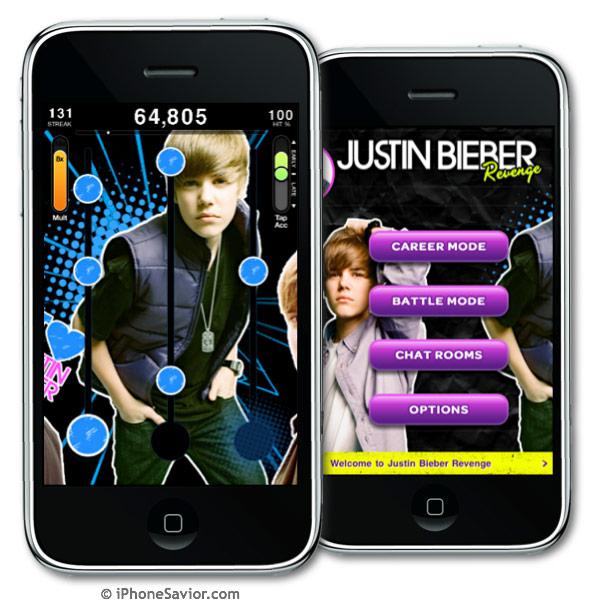 Justin Bieber Revenge - Tap Tap iPhone App