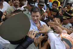 Juan Manuel Santos en campaña