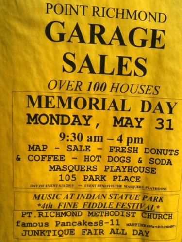 Point Richmond Garage Sales flyer