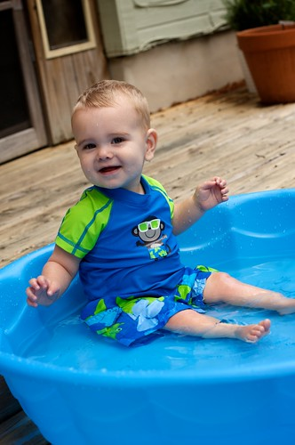 Baby Pool Splashing