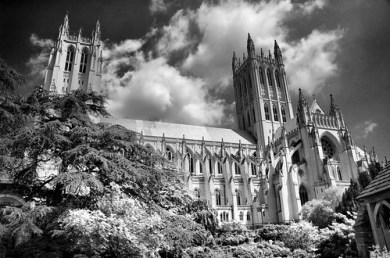 National Cathedral B&W