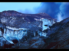 Ice Caves - Eyjafjallajökull Eruption, Iceland by orvaratli
