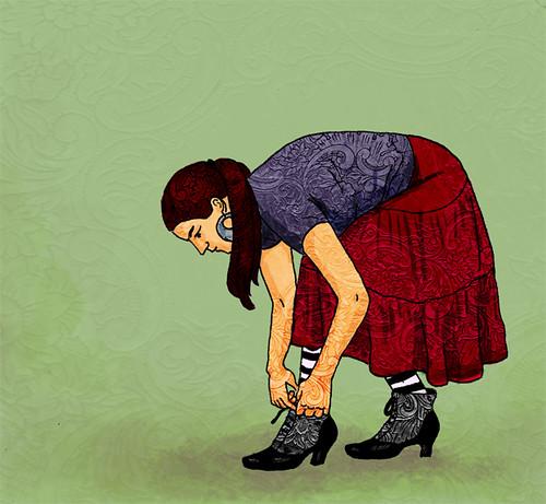 Illustration Friday: Undone