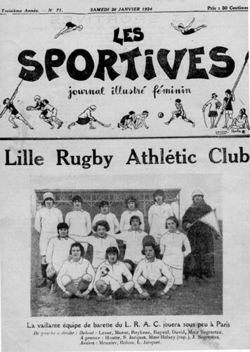 Women Barette / Rugby in France Lille Athletic Club 1924