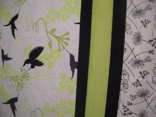 Bird Quilt Top close up