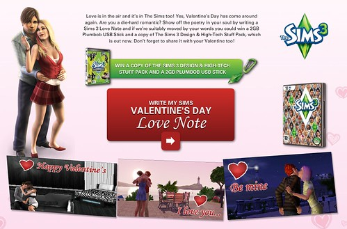 UK Contest:  Love is in The Sims