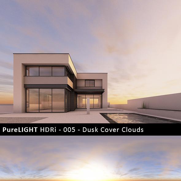 PureLIGHT HDRi 005 - Dusk Cover Clouds