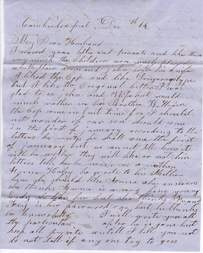 Letter from Sarah Haley to her husband (2)