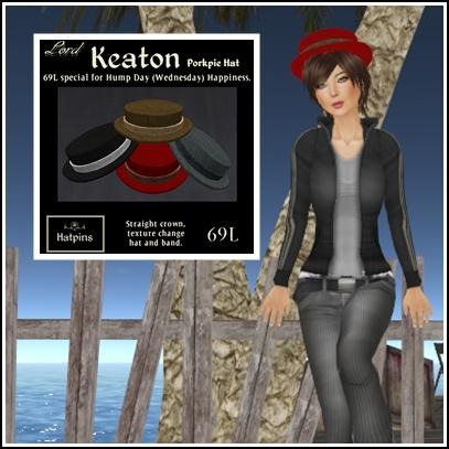 Hatpins - Keaton Porkpie Hat Straight - HDH