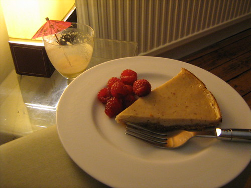 cheesecake and pina colada mocktail