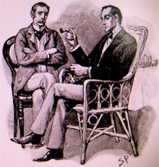 Sherlock Holmes, by Sidney Paget, via web (http://jonrees.wordpress.com/), 1