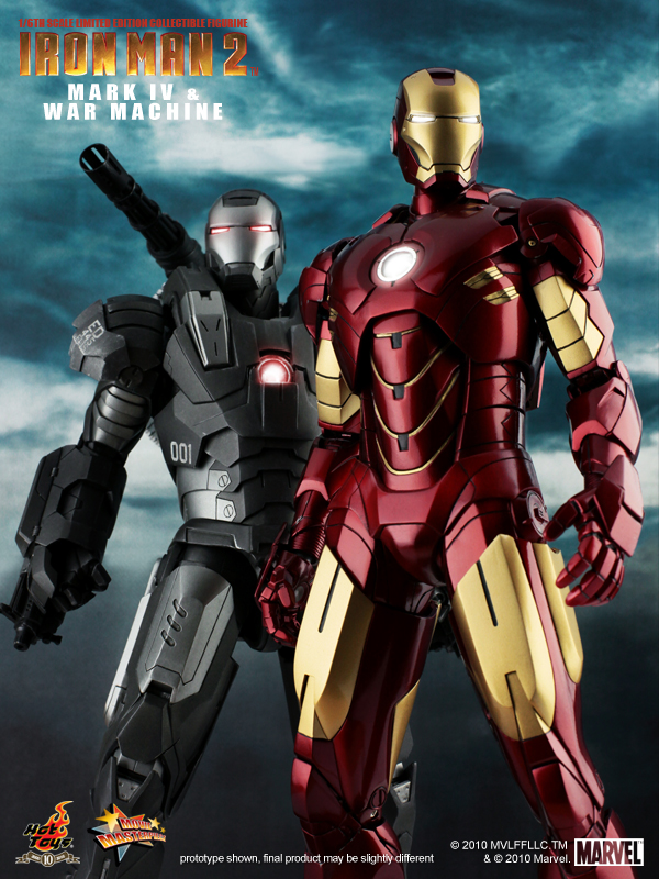 Juguetes de Iron Man 2 Mark IV War Machine Whiplash