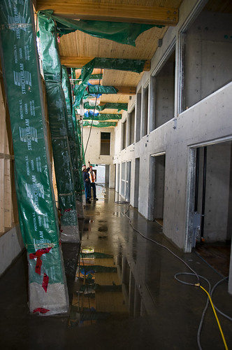 new slab in hallway