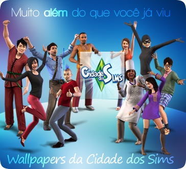 1/15/09 - 6 new wallpapers from Cidade dos Sims