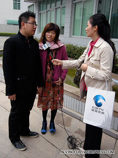 Interview with CSTV in Shantou, China