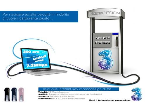 Grafica per la campagna pubblicitaria di 3. N°2