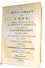Title Page from 'A Dictionary of Love'