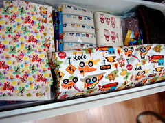 More fabrics in deep drawers
