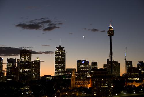 The moon over Sydney