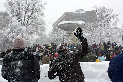 Dupont Snowball battle