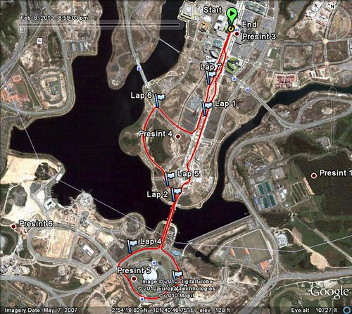 100206 Putrajaya Night Run - 7.7km Route