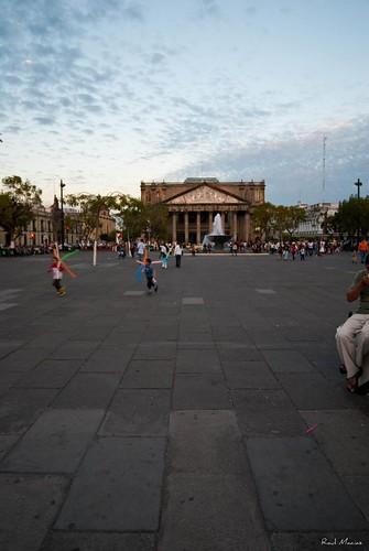 Plaza Liberacion al Fondo Teatro Degollado