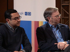 Vic Gundotra and Eric Schmidt