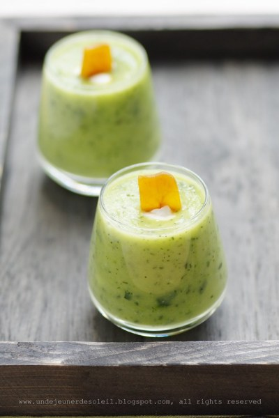 Zucchini soup with botargo