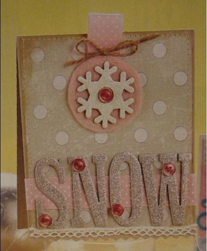 Silver Snow Card by Beatriz Jennings