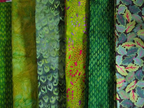fabrics for DSQ 6 quilt