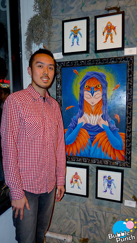 Martin Hsu with his painting of The Sorceress