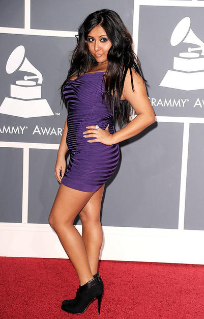 "TV personality Nicole ""Snooki"" Polizzi arrives at the 52nd Annua"
