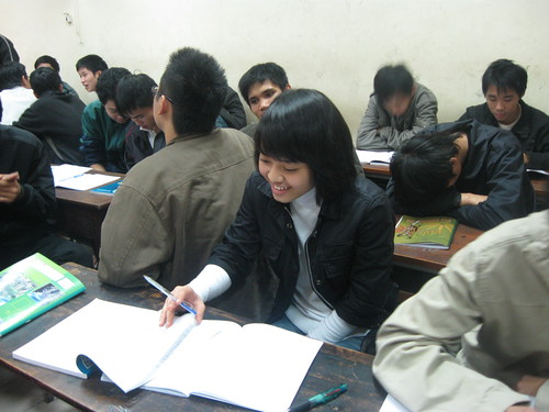 Nhung in class