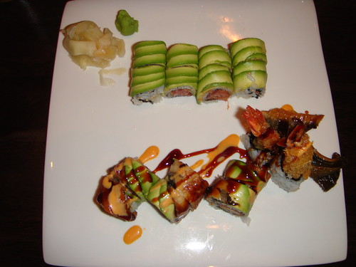 Kumo - Chef's Spicy Tuna Roll and Spicy Dragon Roll