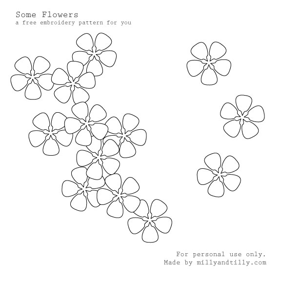 EMBROIDERY FLOWER FREE PATTERN « EMBROIDERY & ORIGAMI