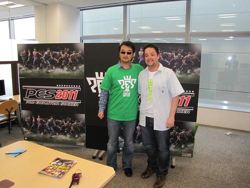 Com o produtor de Pro Evolution Soccer, Shingo 'Seabass' Takatsuka