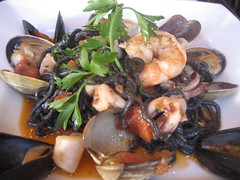 squid ink seafood pasta